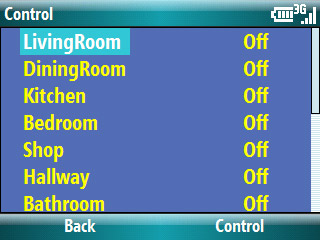 Lighting Control using Snap-Link Mobile